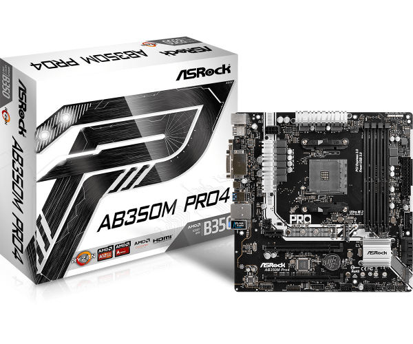 Motherboard ASRock AM4 AB350M Pro4