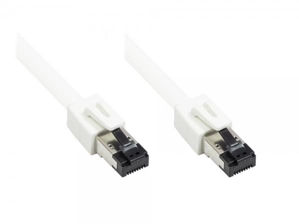 Patchkabel Cat. 8.1, S/FTP, PiMF, halogenfrei, 40GB/2000MHz, 0,5m weiß