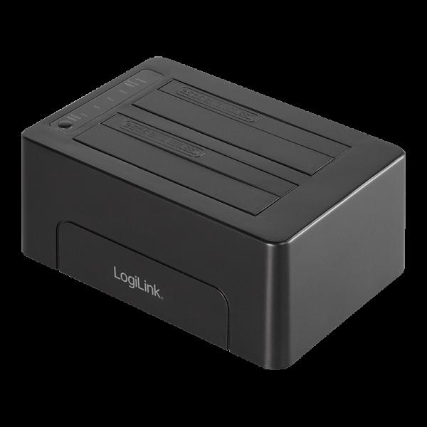 """LogiLink® Quickport USB 3.1 Gen2, für zwei 2,5"""" + 3,5"""" SATA HDD/SSD"""