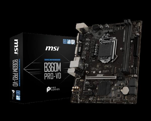Motherboard Computer Hauptplatine Mainboard MSI 1151 B360M-Pro-VD