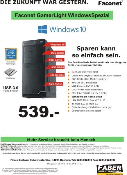 FK Faconet GamerLight Windows Spezial