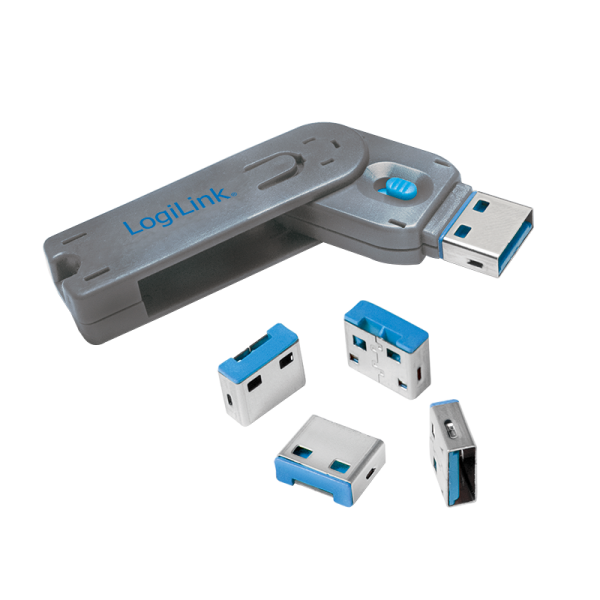 Logilink AU0043 USB Port Blocker 4Locks