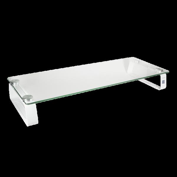 LogiLink® Monitorerhöhung Monitortisch aus Glas, max. 20 kg Belastung