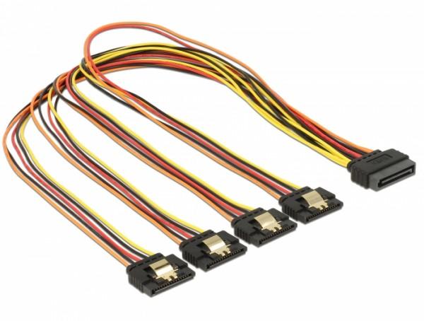 S-ATA Y-Stromanschlusskabel von 1x S-ATA auf 4x S-ATA