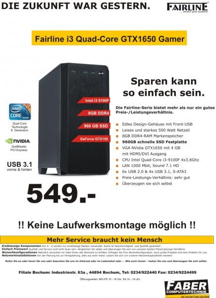FK Fairline V20 i3 Quad-Gamer GTX1650