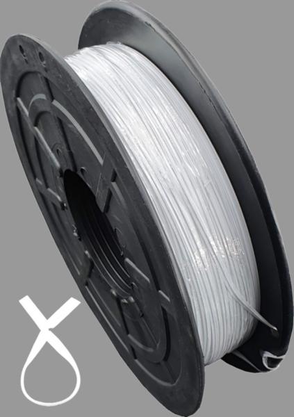 Twist Ties Band Kabelbinder Twistband Tüten Verschlussclipse 50Meter weiß