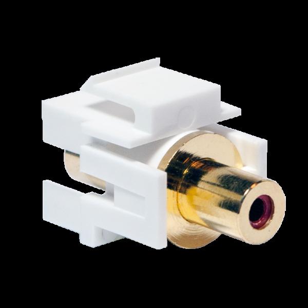 LogiLink® Keystone Verbinder Cinch Buchse > Cinch Buchse - rot